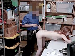 ShopLyfter - Redhead Teen Pepper Hart Fucks Officer To Avoid Trouble
