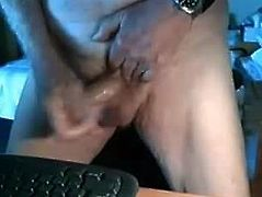 87 year old old man jerk off
