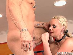 Thick and busty milf Phoenix Marie gets her delicious pawg ass eaten then pounded by a big, fat cock before she gets a big cock up her asshole
