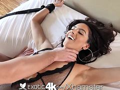 Exotic4k Latin Adrian Hush tied up fuck and creampie