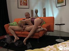 Stunning blonde Lexi Belle gets stabbed by huge meat bat and gets thick cumshot on her mouth