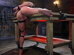 I was tied up in the dungeon and absolutely naked, while the dominant master whipped my naked body with a whip and fingered my asshole. I still can't believe how my body was able to endure those tortures. I was really horrified, but he made me cum in no time.