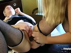 Table squirting Lesbian Maids
