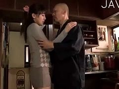Japanese slut fucked by her father-in-law
