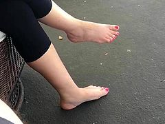 Sister in law flashing her sole to me