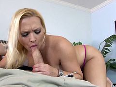 Today is a perfect example. Watch her take on a big cock with ease. Katjas pussy still gets wet as fuck, allowing this dude to go balls deep in her pink slut before laying his cum down on her tongue.