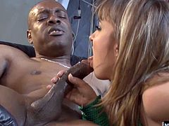 Her vagina isnt very tight anyway, this black dude shoves his big chocolate penis right up her butt hole, which has a difficult time stretching all the way to accommodate his massive boner, and the effort is clear on her face as she struggles to fit his entire dick inside of her anal cavity in this scene from,