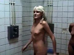 Watching German girls naked in the shower