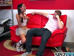 Spizoo-Cute college Lyla Storm sucking a big dick, big booty