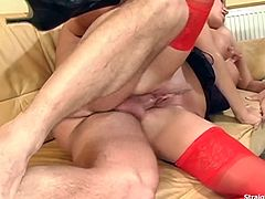 Sultry blonde Pamela Blue manipulates her wet pussy as she gets deep fucked in her tight anal by the Photographer. Looking so sexy while in her red stockings. Tit and mouth fucked with a facial cumshot.