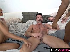 Big White Dick For Two Ebony Cuties