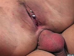 Big tits Trina anal smashed hardcore in close up
