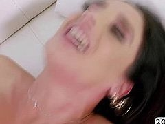Brunette slut Sheena Ryder get wet asshole pounded