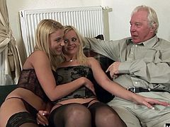Its because she doesnt see the need when the only guy fucking her is super old and isnt concerned about those sorts of things, and her blonde friend Zafira May is the same way. Together they bring pleasure to older lads like Ronald that need a sexy warm hole or two to help them get off and dribble some semen out of his eighty year old penis.
