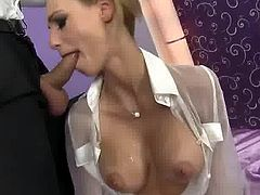 Hot Erica Fontes loves getting mouthfucked