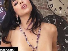 Penthouse Pet Jelena Jensen Rubs One Off In Purple Lingerie!