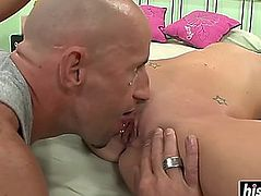 Lily carter enjoys his violent boner