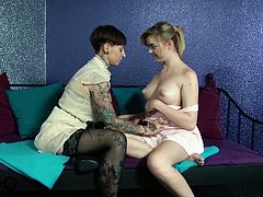 Two German girls become a lot closer when they begin fingering and licking each others pussies until they both orgasm!