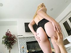 Alluring hottie Jade Amber takes a thick penis in her tight pussy