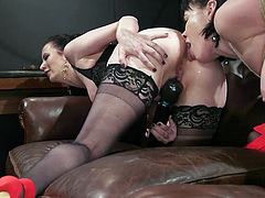 Cherry Torn likes busty babes with wet pussies and needs to dominate in bed so, this time Olive Glass will try to satisfy the dominant milf's wishes. She starts with sensual ass licking and... Join to enjoy lesbian ass spanking, bondage, punishment & hardcore sex.