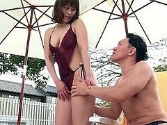 Gorgeous outdoor sex with milf Riho - More at javhd net