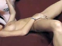 Str8 beauty tries her 1st lesbo with a lesbo pair
