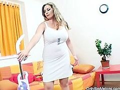 Constance Devil Enjoys Day Cleaning