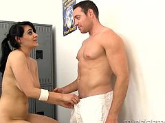 Busty Charley Chase gets her hairy cunt banged while her tits bounce
