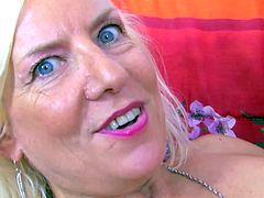 Blonde MILF Charly Spark sucks and fucks