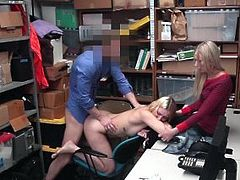 Shoplyfter - Hot Daughter Fucks Cop To Save Mom