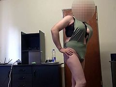 Fake Boobs - posing in a swimsuit, shaved body