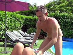Jolee Love getting fucked by the pool