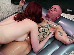 redhead masseuse knows how to ride a dick