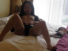 Sample Cute Filipina with big hair. Topless Interview