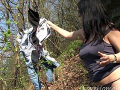 Going rock climbing with a kinky amateur chick