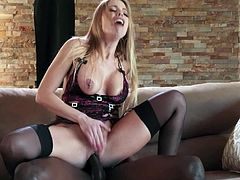Super intense black porn with Britney Amber