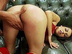 Lovely Lou enjoys being spanked and jizzed on