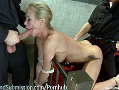 Sexy MILF Fucked By Security Guards