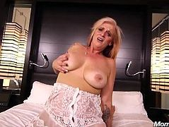 Naughty Big Natural Boobs Tattooed GILF Fucked POV