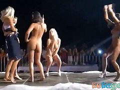 Hot Women Dancing Naked on Stage