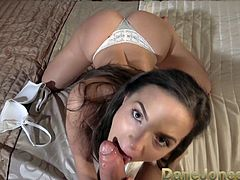 Dane Jones Petite young Czech POV blowjob and filled up