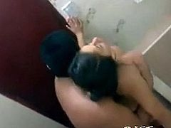 Asian GF Caught Fucking in the Bathroom
