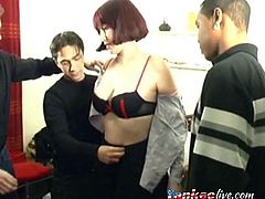French redhead wants a lot of dick at the same time