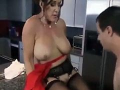 Big boobs stepmom makes breakfast for her stepson PART 1 - More On HDMilfCam.com