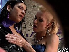 Smoking hawt chick gets mouth fucked and slimed at gloryhole