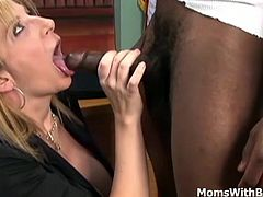 When in an interview with a mature blonde like Sara Jay you only need to have on quality and that is having big long hard cock pumping her juicy pussy right in her office.
