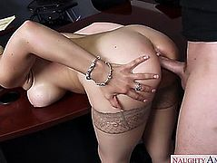 The banker sarah vandella getting fucked right into an asshole by the borrower