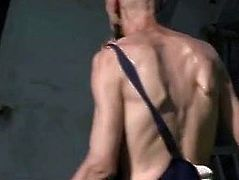Oldman licking and toying son's girlfriend pussy