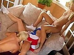 Hot & Horny young blonde lesbian teen sluts eat each others pussy