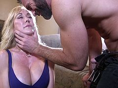 Brandi Love in a hard-core BDSM session